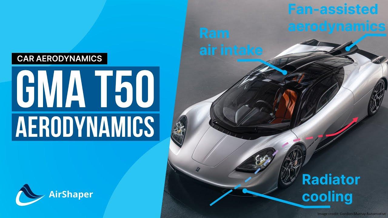 Gordon Murray T50 Aerodynamics - Successor to the McLaren F1 supercar