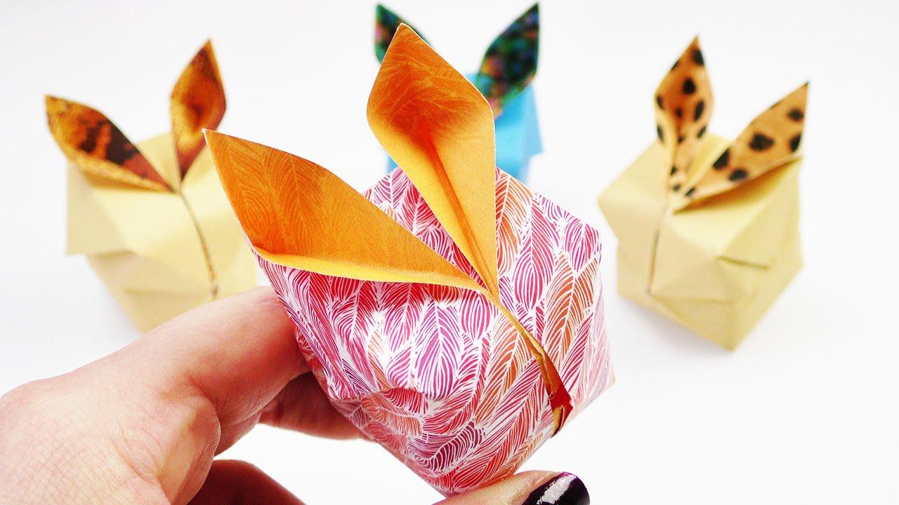 osterhasen origami diy s e 3d hasen als fr hlings dekoration falten mit musterpapier youtube. Black Bedroom Furniture Sets. Home Design Ideas