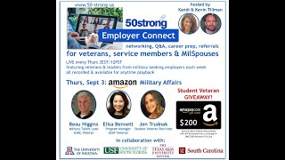 9.3 50strong Employer Connect:  Amazon