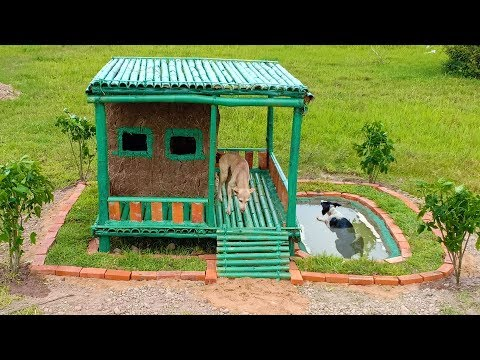 Build Bamboo Dog's House /House's Dogs .