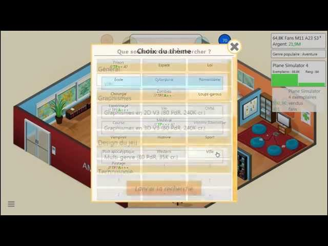 Sans Commentaire: Game Dev Tycoon Partie 14 1080P/60FPS
