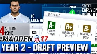 Draft Preview & Top Prospects - Madden 17 Chargers Franchise Year 2  | Ep.44