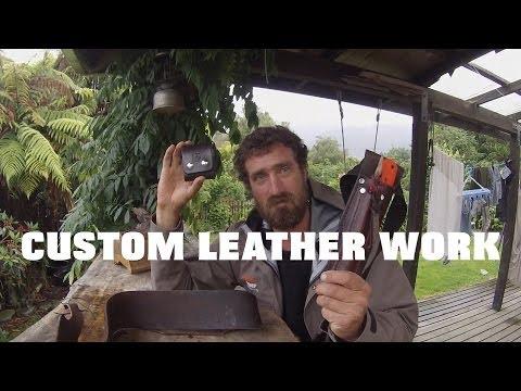 HGD custom leather knife sheaths and leather work