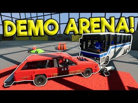 LEGO DEMO DERBY ARENA CRASHES! -  Brick Rigs Multiplayer Gameplay - Lego Toy Car Crash