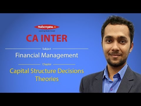 CA Inter - Financial Management - Capital Structure Decisions - Theories Demo Video Lecture