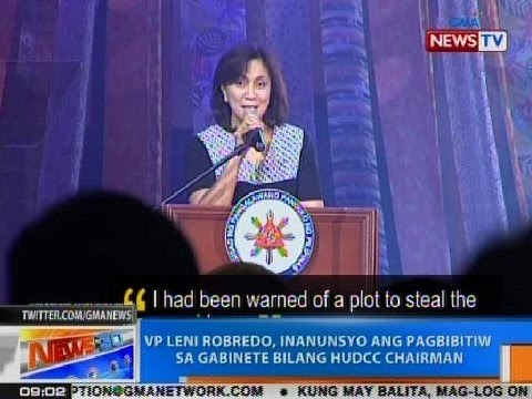 NTG: VP Leni Robredo, inanunsyo ang pagbibitiw sa gabinete bilang HUDCC chairman