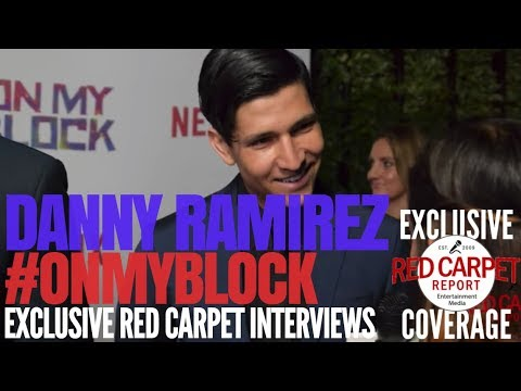 """Danny Ramirez interviewed at Premiere of Netflix's coming of age comedy """"On My Block"""" #OnMyBlock"""