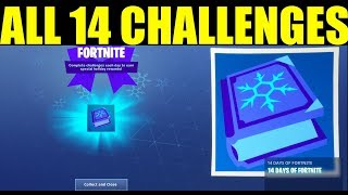 ALL 14 days of fortnite Challenges & Rewards How to do 14 Days Of Fortnite Challenges guide