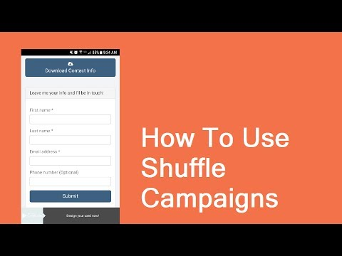 How To Use Shuffle Campaigns