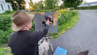 Iris Sunset- a plein air painting with Brian Keeler