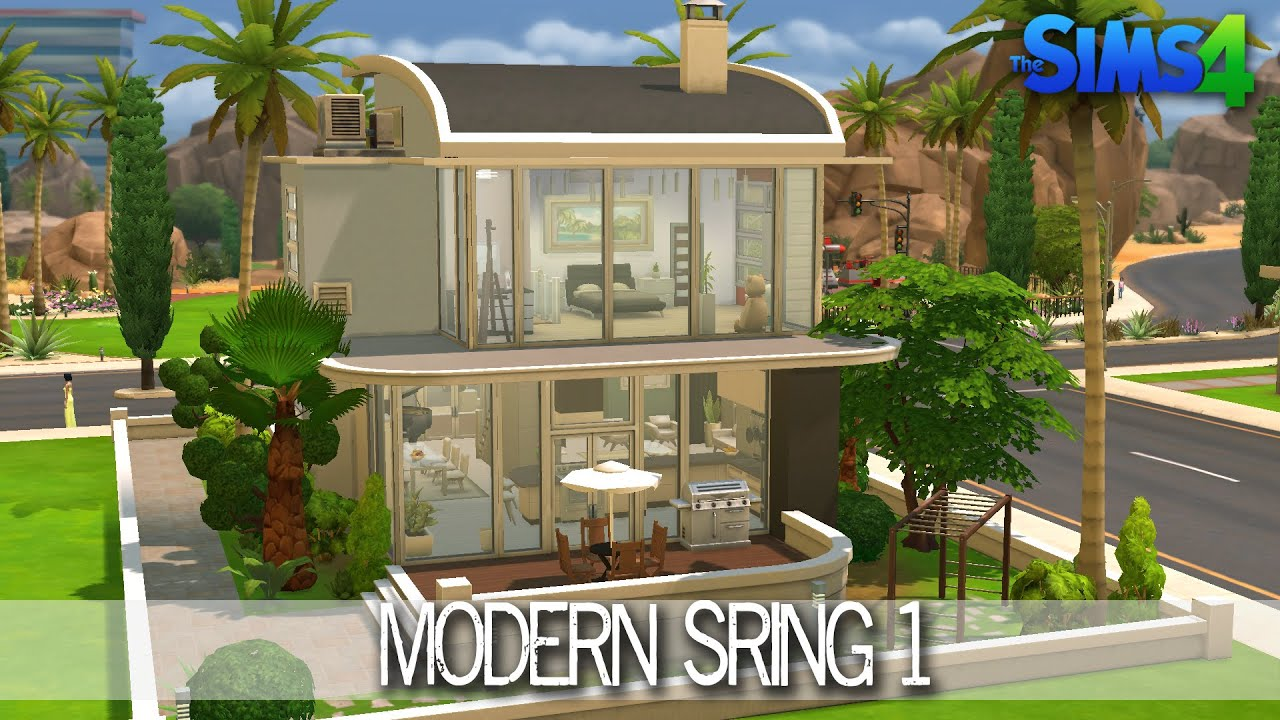 The Sims 4 House Building Modern Spring Speed Build YouTube