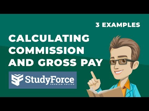 Calculating Commission And Gross Pay