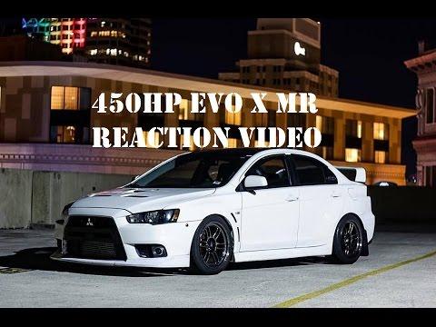 Mitsubishi Lancer Evolution X >> 450HP EVO X MR REACTION RIDE ALONGS!! - YouTube