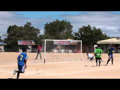 Gol de Carolino - CRM 2 x 1 Escolinha Remansense de Futebol