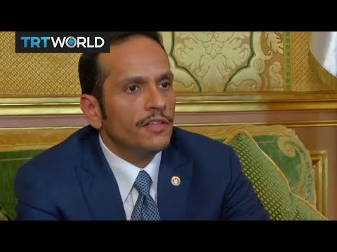 Qatar Foreign Minister speaks in Paris