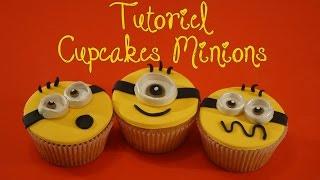 Cupcakes Minion pâte à sucre / Despicable Me   Cake design