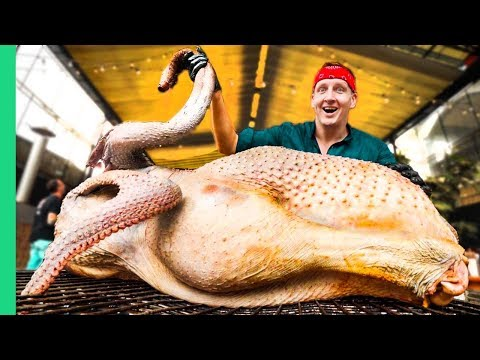 RECORD BREAKING BIRD!!! Roasting An Ostrich WHOLE!!! (NEVER BEFORE ATTEMPTED!!!!)