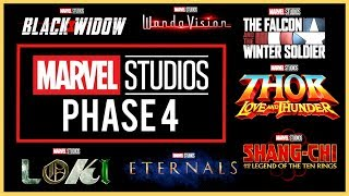 Marvel PHASE 4 Release Titles Announcement! (2020-2021) SDCC