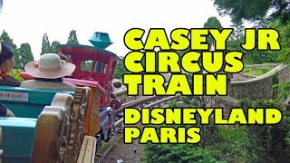 Casey Jr's Circus Train Powered Roller Coaster POV Disneyland Paris