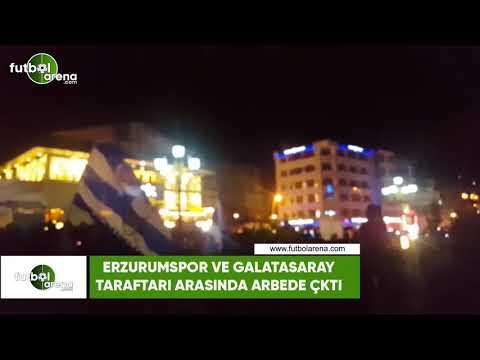 Erzurumspor ve Galatasaray tarafları arasında arbede