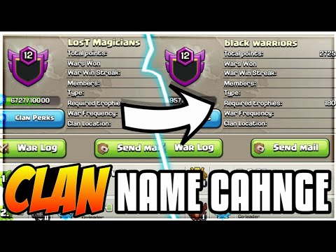 CLAN NAME CHANGE? NEW UPDATE HINT! #6AY MARTINS CLASH OF CLANS•FUTURE T18