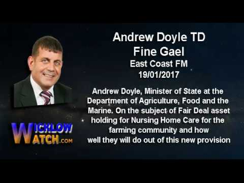 Andrew Doyle TD talking about the Fair Deal Nursing Home Care for Farmers