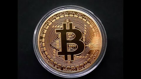 Bitcoin Commemorative Round Collector BTC Physical Coin Gold GTC
