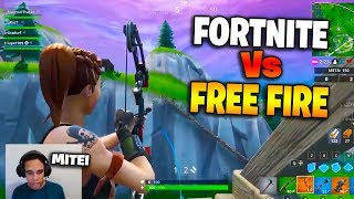 FORTNITE Vs FUEGO GRATUITO!! EX TOP 1 FUEGO LIBRE GLOBAL JUGANDO FORTINITE!! Comparar
