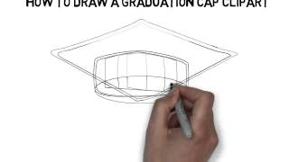 how to draw a graduation cap clipart