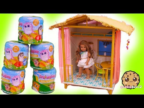 Surprise Springlings Found In American Girl Jungle Hut House - Video