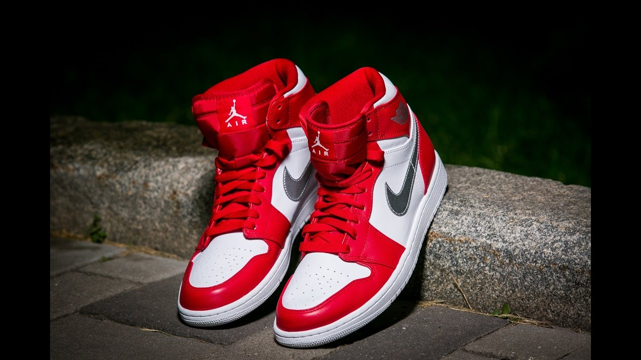 Air Jordan 1 High Retro Gym Red Metallic Silver Medal Olympic - YouTube 5f6836766