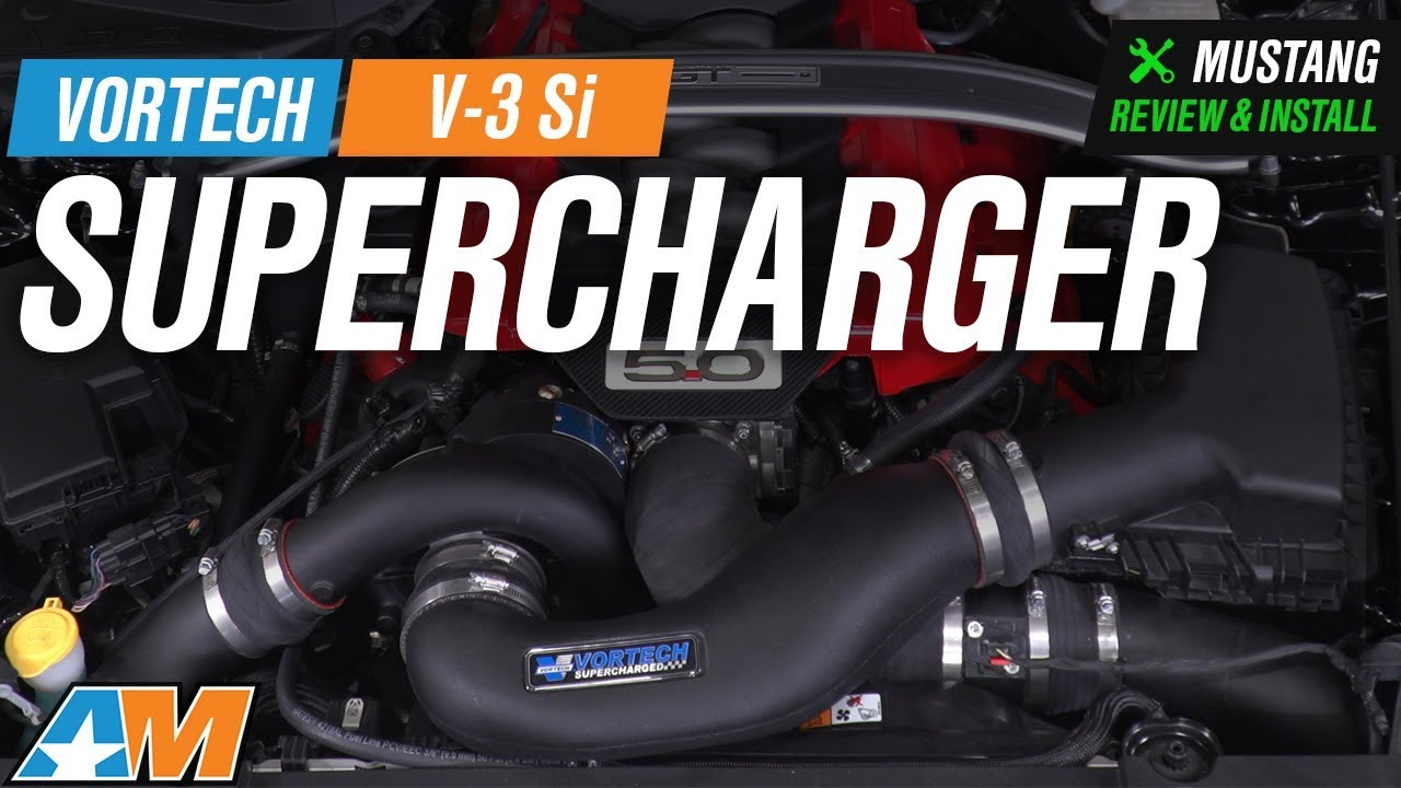 2015-2017 Mustang GT Vortech V-3 Si Supercharger System - Black Review &  Install