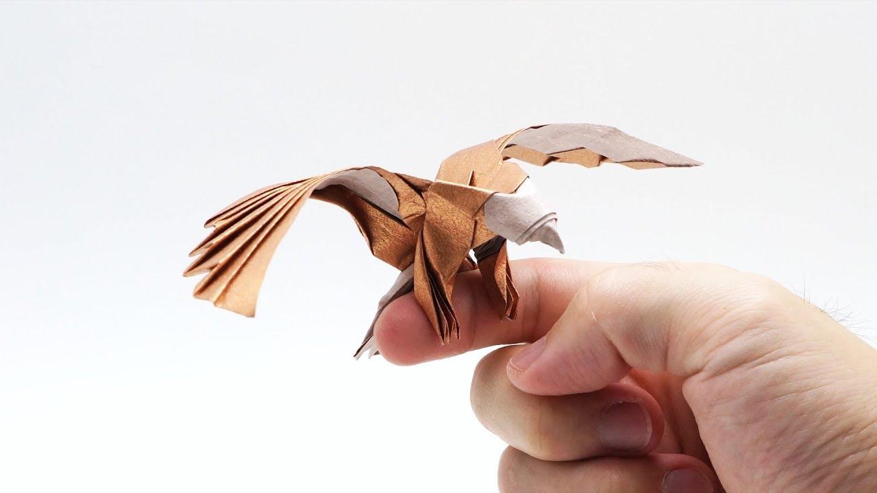 origami eagle instructions diagram trailer wiring 7 pin round uk simplified version jo nakashima youtube