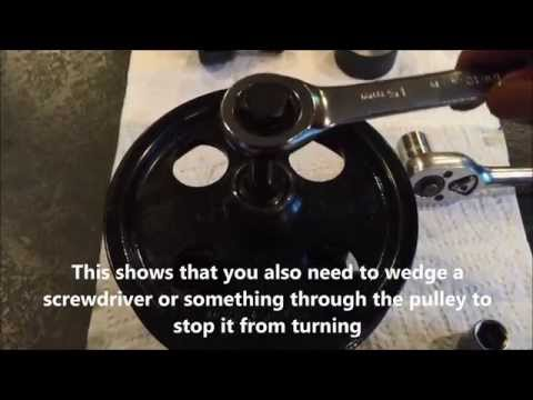 Use a power steering pump puller kit to to pull & reinstall a pulley