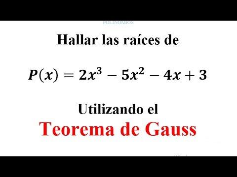 Teorema De Gauss Usando La Especialización  Mica
