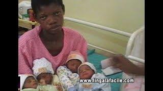 RDC: A KINSHASA, UNE PAUVRE FEMME ACCOUCHE A LA FOIS 4 ENFANTS