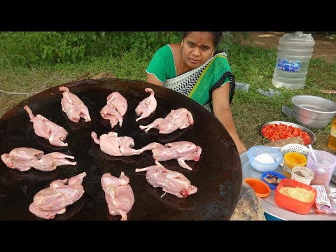 Spicy 10 FULL Quail Dry Gravy   Kaadai Gravy   My Village Food