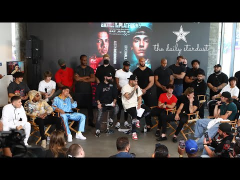 FULL COVERAGE OF YOUTUBERS VS TIKTOKERS PRESS CONFERENCE!!!!