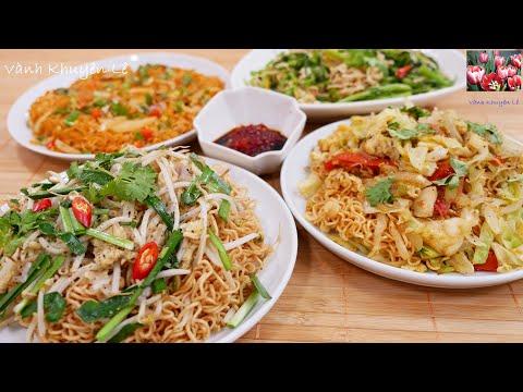 4 Món MÌ GÓI - 1 cái Trứng và 1 gói MÌ TÔM cho ra 1 Dĩa Mì - Những Món ăn Mùa COVID by Vanh Khuyen