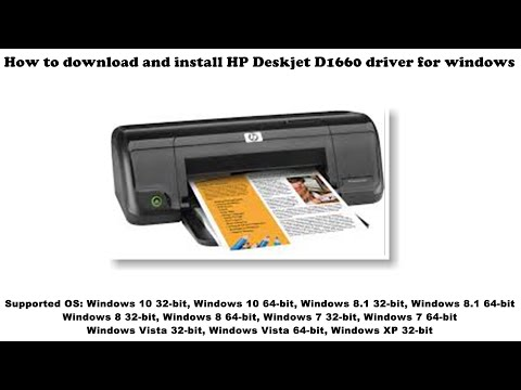 How To Download And Install HP Deskjet D1660 Driver Windows 10, 8 1, 8, 7, Vista, XP