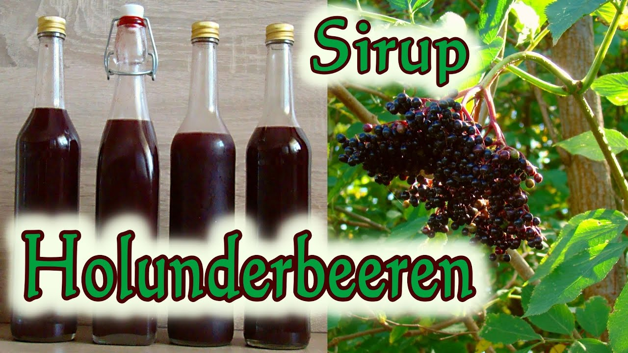 holunderbeerensirup holunderbeeren sirup rezept holunderbeerensaft youtube. Black Bedroom Furniture Sets. Home Design Ideas
