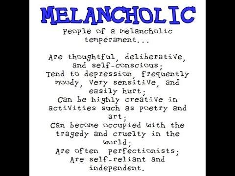 The four temperaments Melancholy