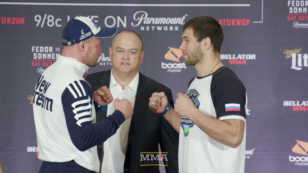 Bellator 208: Fedor vs. Sonnen Press Conference Staredowns - MMA Fighting