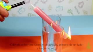 Columpio de velas. Experimentos (Divertiaula)