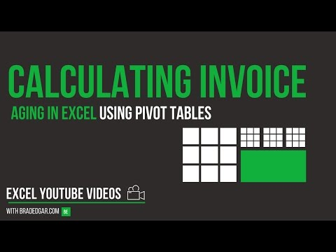 Calculating Invoice Aging in Excel Using Pivot Tables