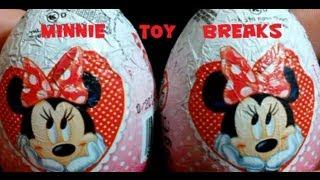 minnie mouse chocolate surprise egg break x2 zaini egg unboxing