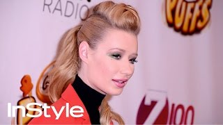 How To Get Iggy Azalea's Pompadour Ponytail | Get That Look | InStyle