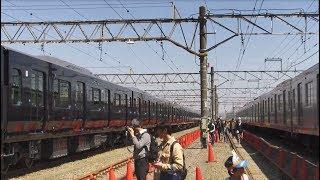 相鉄・JR直通線用新型車両「12000系」の横を歩く その2