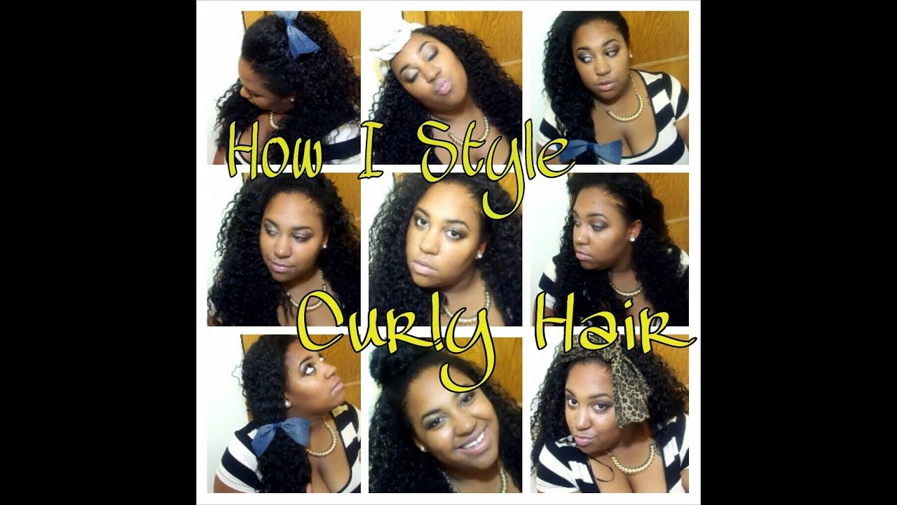 how to style hair weave how i style my curly hair ft outre weave 2904
