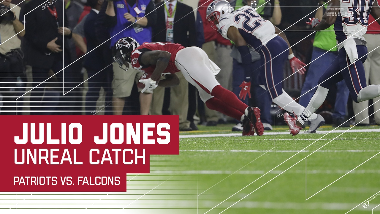 Julio Jones Unreal Sideline Catch Patriots vs Falcons